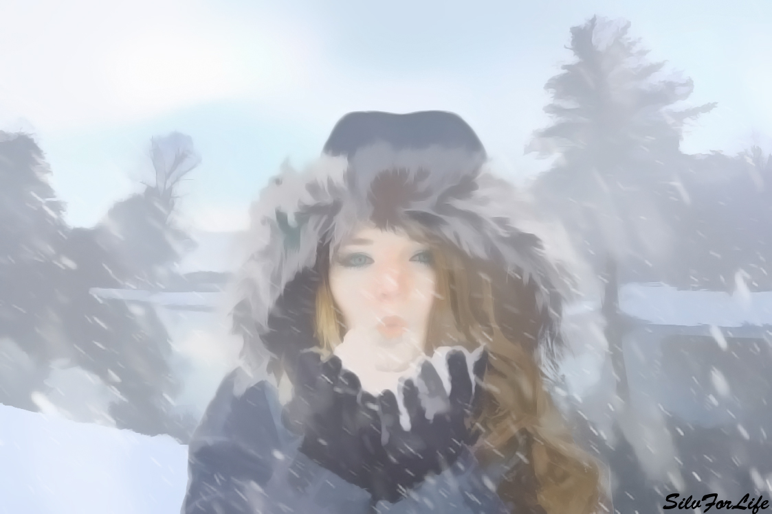 Winter_landscape_gives_feeling_of_freedom #3 - Painting