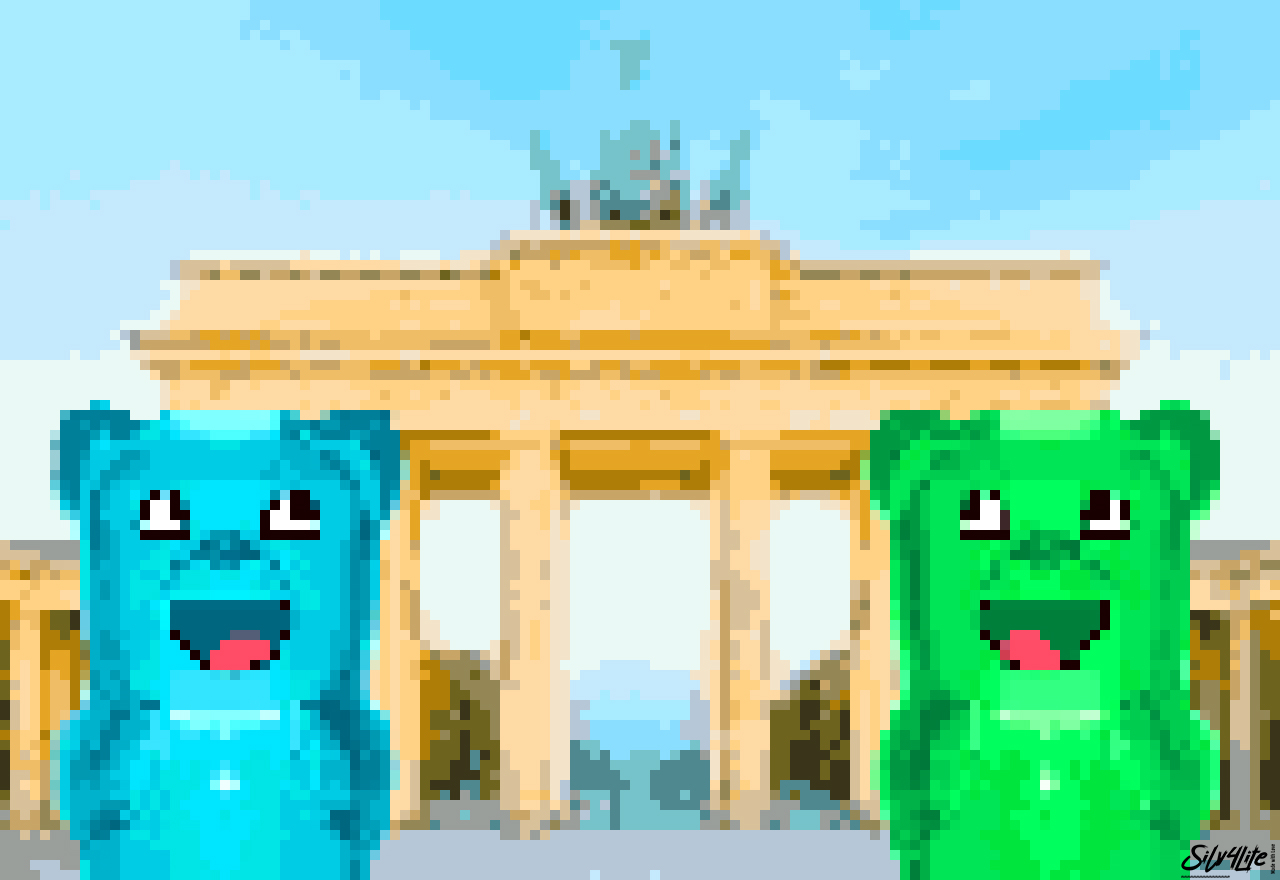 Gummys in Berlin - Pixelart