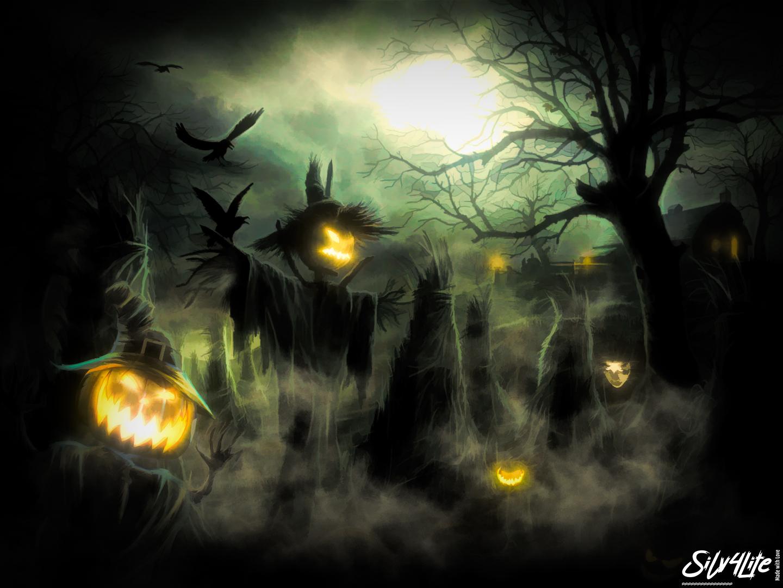 Halloween Field - Paint