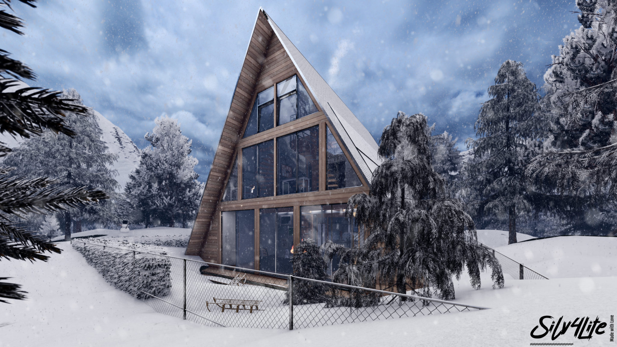 Read more about the article Modern Winter House – Exterior