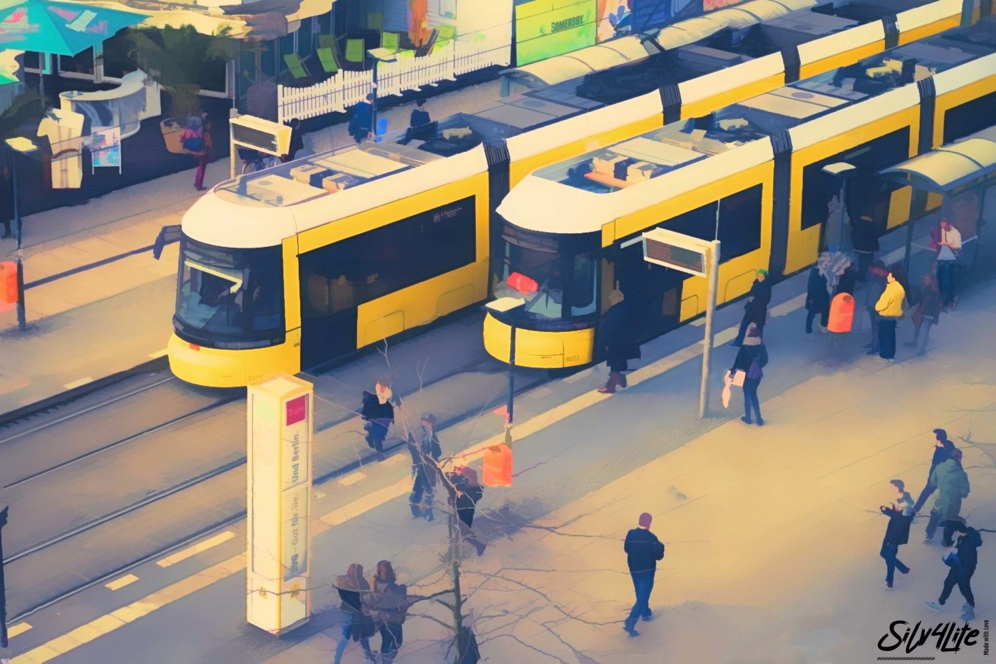 Read more about the article Berlin Alexanderplatz Tram-Station – Paint